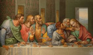 800px-Detail_of_the_Da_Vinci's_The_Last_Supper_by_Giacomo_Raffaelli,_Vienna[1]